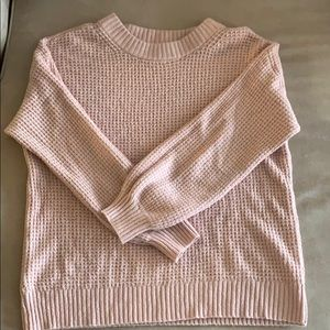 Pink cable kit American eagle sweater